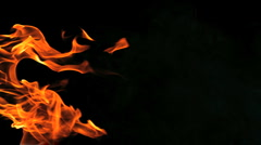 Stock Video Footage of Super Slow Motion Fire and Flames Shot by High Speed Camera