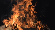 Stock Video Footage of Super Slow Motion Burning Fire Wood