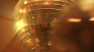 Disco balls in red closeup Stock Footage