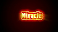 Stock Video Footage of Miracle Label