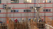 Stock Video Footage of Workers on construction site
