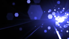 Hexagon Lights and Flare  Stock Footage