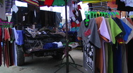 Spinning Tee-Shirts in Market Stock Footage