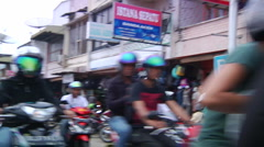 Banda Aceh Traffic - Motorbikes Stock Footage
