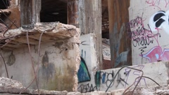 Abandoned Refinery Building 10 - stock footage