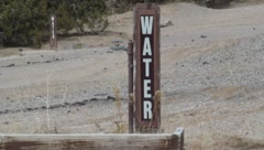 Water Spicket in the Desert Stock Footage