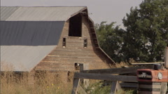 Barn and Tractor 3 Stock Footage
