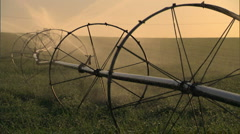 Farm Irrigation Sprinkler 3 Stock Footage