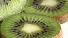 Sliced kiwi fruit close up Stock Footage