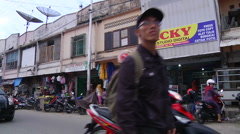 Street Life in Banda Aceh Stock Footage