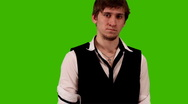 Office Staff on Green Green screen Stock Footage