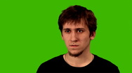 Man on Green screen Stock Footage