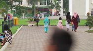 Women and Children at Mosque 3 Stock Footage