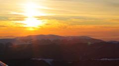 Mountain sky pan Stock Footage