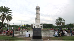 Mosque Tower in Aceh Stock Footage