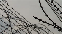 Tuol Sleng Genocide Museum (S-21), barbed wire Stock Footage