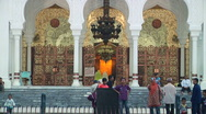 Women and Children at Mosque Stock Footage