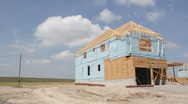 New house construction. Stock Footage