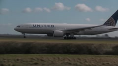 Continental Airlines Boeing 777 - stock footage
