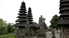 Pura Taman Ayun Royal Temple of Mengwi Empire in Mengwi Village, Bali, Indonesia Stock Footage
