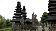 Stock Video Footage of Pura Taman Ayun Royal Temple of Mengwi Empire in Mengwi Village, Bali, Indonesia