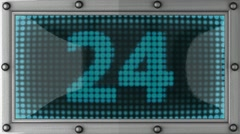 count down announcement on the LED display - stock footage