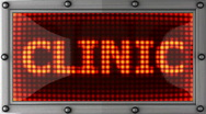 Clinic announcement on the LED display Stock Footage
