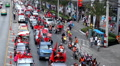 Red Shirts Anti-Government Protest in Bangkok, Thailand, Phetchaburi, 19/02/11 Footage