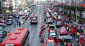 Red Shirts Anti-Government Protest in Bangkok, Thailand, Phetchaburi, 19/02/11 HD Footage