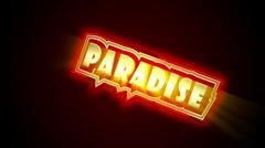 Paradise Label - stock footage