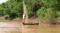 Kratie, Cambodia, Fishermen Stock Footage