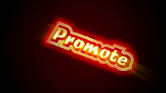 Promote Label - stock footage