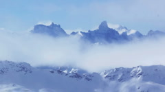 Timelapse mountains and clouds - stock footage