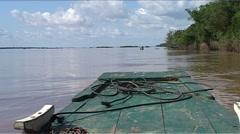 Kratie, Cambodia, Boat Stock Footage