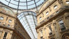 Stock Video Footage of Galleria Vittorio Emanuele II, Milan