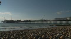Brighton pier landscape Stock Footage