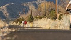 Street Cyclists Stock Footage