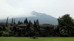 View from Hindu Mother Temple of Besakih, Agung Volcano, Bali Island, Indonezia Stock Footage