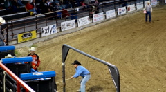 Rodeo bull riding Stock Footage