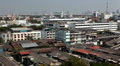 Aerial View of Bangkok, Thailand, Bird Eye View from Wat Saket, Poor Houses, Old Footage