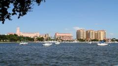 St Petersburg Yacht Basin - stock footage