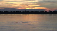 Stock Video Footage of Sunset at the Mekong River, Cambodia