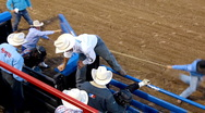 Stock Video Footage of Rodeo bull riding