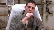 Sick man Stock Footage