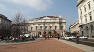 Stock Video Footage of Alla Scala theatre, Milan