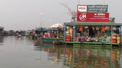 Cambodia: Floating Village on Tonle Sap Stock Footage