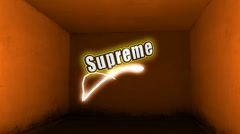 Supreme Label Stock Footage