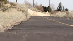 Street Cyclist Trail Stock Footage