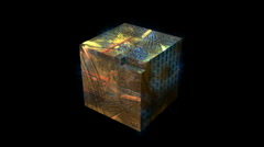 Transforming Cube Stock Footage