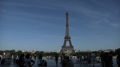 Eiffel Tower, Paris, Long shot. Stock Footage